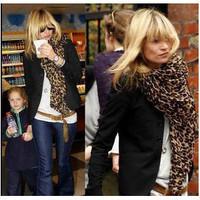 Fashion oversized leopard print scarf leopard print scarf cape Y91W04