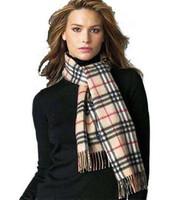 Classic general thermal scarf plaid scarf thickening wool cashmere scarf Y90W36