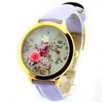 DIY Polymer Clay Handmade Genuine Leather Quartz Korea electronic For Women Watch rose watch brand mini world