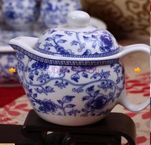 Mud song of jingdezhen blue and white bone China porcelain tea set 7 heads