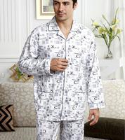 Plus size plus size Men cotton home casual sleepwear male lounge set
