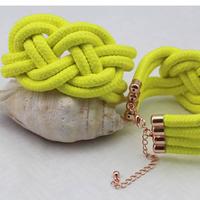 Min order $10, 2013 handmade Neon knitted Rope bracelets Glitter Neon Bracelet accessories wrist retail