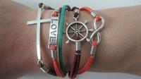 Кожаный браслет EDLOVE 12PCS/LOT! /0184 A-0184