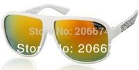 NEW OREKA XM7011 Stylish Sunglasses with Plastic Frame & Lens (White)+free shipping