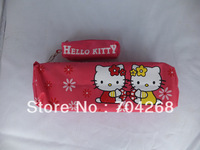 2 in 1 Hellokitty hello kitty cosmetic coin bag pouch Pencil Case Box/Hello Kity Pencil bag Stationery bag