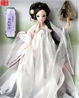 Free Shipping Novelty 29cm Kurhn Joint Body Dolls Chinese Myth Dolls White Snake Fairy Doll 9052 Best Fashion Dolls For Children