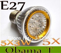New Arrival  5X Par20 Led Lamp E27  Dimmable 5X3W 15W Spotlight Led Light Led Bulbs 85V-265V Energy Saving Free shipping