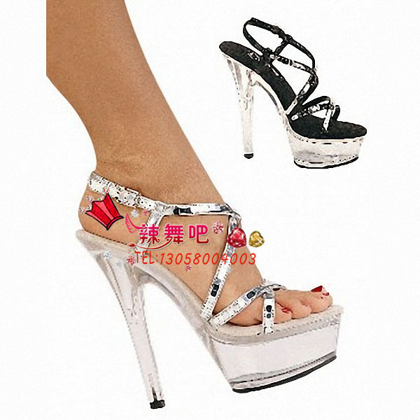 2013 new hot dance high-heeled shoes with a fine crystal sandals model T show in Europe and the United States women's shoes(China (Mainland))