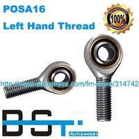 LEFT Hand Thread Rod End POSA16 SA16T/K / POSA16L 16mm Male Thread Joint Bearing