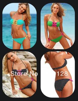 2013 new arrival bikini swimwear women sexy Hit the color Bra swimwear vs bikini goog quality  Fashion Brand  woman beachwear