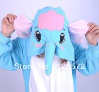 Adult Unisex Animal Lovely Elephant Pajamas Onesie Sleepsuit Cosplay