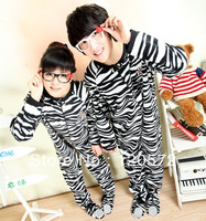 Lovely Zebra Pajamas Unisex Adult Footed All in one Sleepsuit Sleepwear Pyjamas