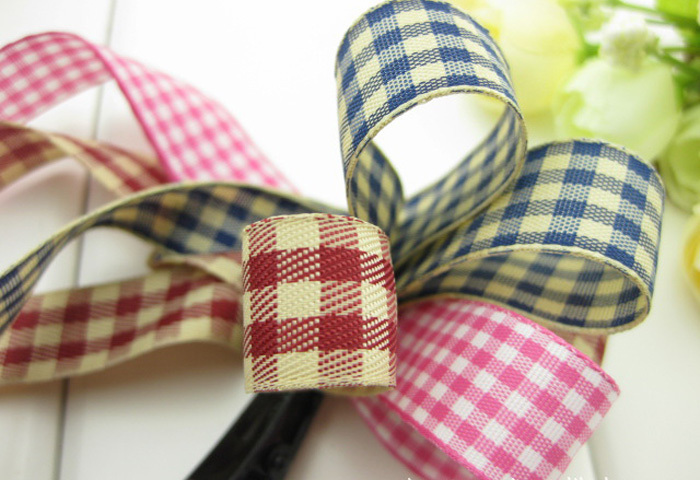15mm Plaid England Style Hair Ribbon,DIY Handmade Hair Accessories Material,50 Yard/Lot Wholesale,Free Shipping !(China (Mainland))