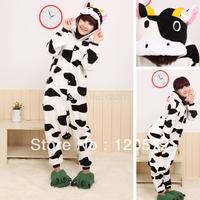 Adult Unisex Animal Lovely dairy cow Pajamas Onesie Sleepsuit Cosplay Sleepwear
