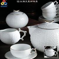 with gold handmake decoration ceramic 13pc  tea set, cup and saucer tea set teapot cup tea set,coffee set