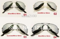 Wholesale - Brand Mens Womens Metal Classic Sunglasses Designer Glasses Gold/Brown 58mm Lens