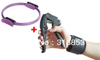 Sport Kit Yoga pilate ring mogic fintess circle and adjustable hand grip gripper strength and Wrist Brace Support Gym Strap Band