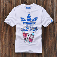 2013 spring and summer shoes logo men's clothing bboy short-sleeve T-shirt