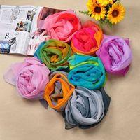 The rainbow gradient fashion casual chiffon scarf beach towel FX-040