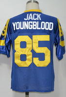 #85 Jack Youngblood Men's Authentic 1979 Team Blue Throwback Football Jersey