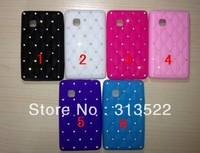 Wholesale Starring Diamond Quilted TPU Gel Case Stars Soft Studded Starry Sky Silicone Cover For LG T375/ T370 Free shipping