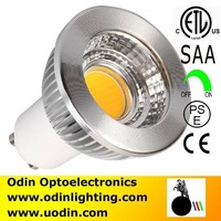 Odin goodbulb-GU10 6W 700lm COB LED Spot Light Bulbs Lamp Warm white/cool white High Brightness dimmable ETL/SAA Free Shipping
