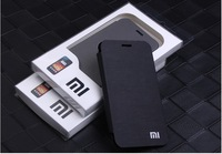 New arrival Ultra-Slim Official Style pu Flip Cover for XIAOMI M2/MI2 ,high quality ,Free Shipping