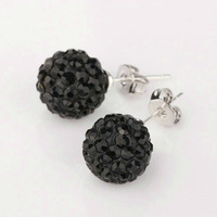 Free shipping!!Hot Wholesale New Fashion 925 Sterling Silver Stud Earrings XE01 Fit for Shamballa