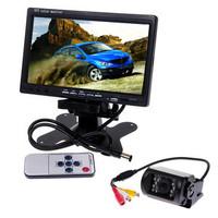 "7"" TFT Color LCD Video Car Rearview Monitor E629 CMOS CCD Car Rear View Camera"