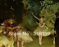 Oil Painting Reproduction on Linen Canvas,Ballet Rehearsal by Edgar Degas,Free DHL Shipping,handmade,Top Quality
