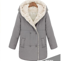 STOCK!!!2013 new arrival lady down cotton-padded jacket brand thick medium-long women's plus size winter wadded jacket