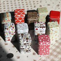 Free shipping,New 10 styles Mini Cute Christmas Portable storage box/ Cylinder tea tin box/ Multi-purpose Storage Case