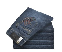 Free Shipping Casual pants 2013 New Newly Style TOP brand cotton Men's Jeans Straight Leg size: 29~40 jeans men