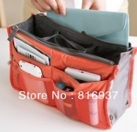 9 Colors Promotions Lady's organizer bag handbag organizer travel bag organizer insert with pockets storage bags Free Shipping