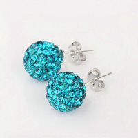 Free shipping!!Hot Wholesale New Fashion 925 Sterling Silver Stud Earrings XE12 Fit for Shamballa