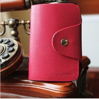 Free shipping hot sale lady leather card bag, wallet women ,leather  card bag,1pce wholesale, quality guarantee , TB-010