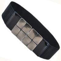 Brief quality buckle square japanned leather cummerbund women's elastic strap belt wide belt