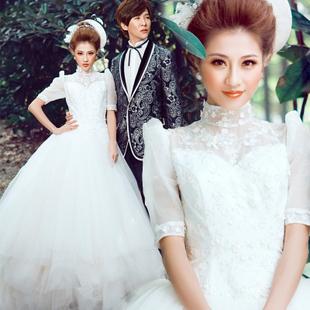 Short sleeve skirt the bride wedding dress short sleeve wedding dress