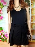 Fashion  new 2013 spring  dress women's vest sleeveless slim basic knitted patchwork skirt