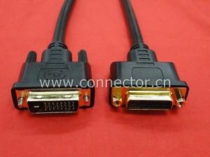 DVI D Dual Link Male Female Video Extension Cable 24 1