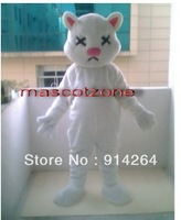 New White Cat Mascot Costume Adult Size Fancy Dress   /free shipping  by FEDEX DHL