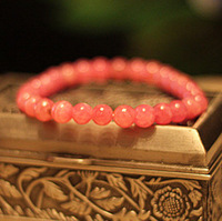 Rhodochrosite bracelet peach blossom natural crystal beads fall in love