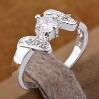 R155 Wholesale 925 silver ring, 925 silver fashion jewelry,  Austrian Crystal   Inlaid Blue Stone Ring Finger, Ring