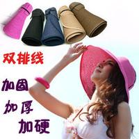 Women's summer parent-child hat sun hat folding strawhat straw braid beach visor cap sunbonnet