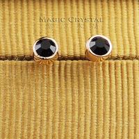 Italina ol personality black small stud earring earrings female