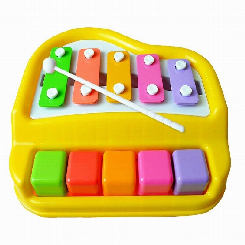Polaroid small xylophone knock piano yakuchinone child hand knocking piano infant musical toy 1 - 3 years old(China (Mainland))