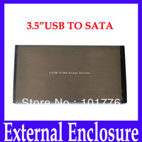 Free shipping 3.5 inch USB 2.0 HDD SATA Hard Disk Drive Enclosure Case Box Storage Devices HD311,2pcs/lot