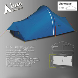 NEW Outdoor Travel LUXE Lightwave Ultralight Tents 1-2 man person Tent Aluminium Pole Camping Tentage Free Shipping(China (Mainland))
