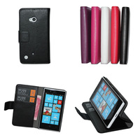Lychee PU Wallet Case For Nokia Lumia 720 with stand