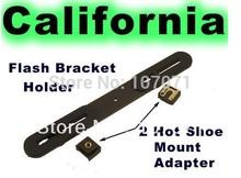 Camera Holder Flash Bracket+2 Hot Shoe Mount Adapter Photo Studio Accessories for 1/4″ Studio Light Stand
